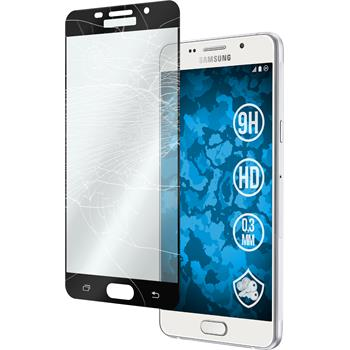 1x Galaxy A7 (2016) A710 klar full screen Glasfolie schwarz