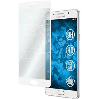 1 x Samsung Galaxy A7 (2016) A710 Glas-Displayschutzfolie klar full screen weiß