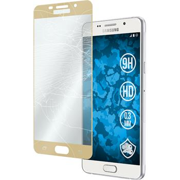 1 x Samsung Galaxy A7 (2016) A710 Protection Film Tempered Glass clear full screen gold