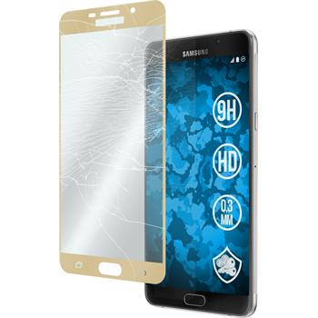 1 x Samsung Galaxy A9 Protection Film Tempered Glass clear full screen gold