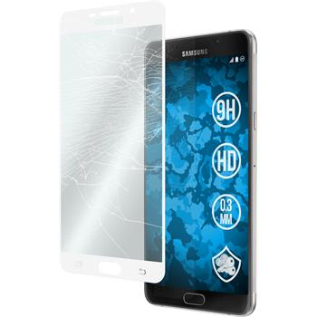 1 x Samsung Galaxy A9 Protection Film Tempered Glass clear full screen white