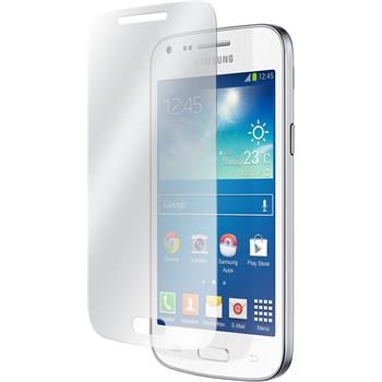2x Galaxy Core Plus klar Glasfolie