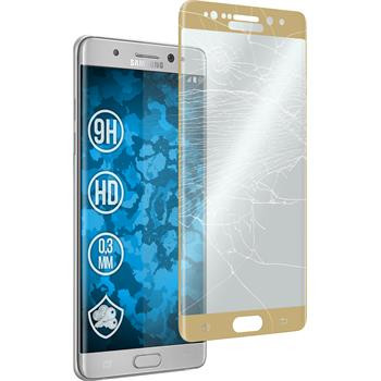 1x Galaxy Note 7 klar full screen mit abgerundeten Ecken Glasfolie gold