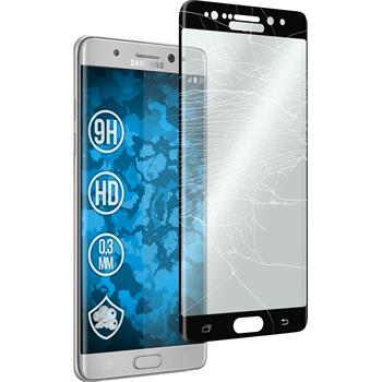 1 x Samsung Galaxy Note 7 Protection Film Tempered Glass clear full screen curved black