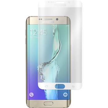 1x Galaxy S6 Edge Plus klar Glasfolie weiß
