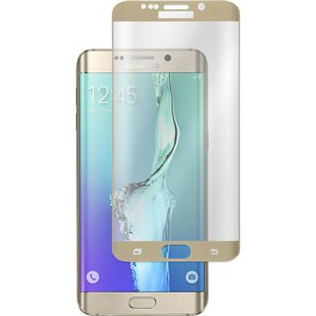 1 x Samsung Galaxy S6 Edge Plus Protection Film Tempered Glass clear gold