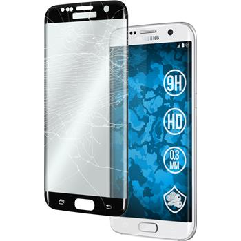 1 x Samsung Galaxy S7 Edge Protection Film Tempered Glass clear curved black