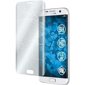 1 x Samsung Galaxy S7 Edge Protection Film Tempered Glass clear curved transparent