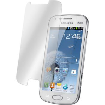1 x Samsung Galaxy S Duos Protection Film Tempered Glass Clear