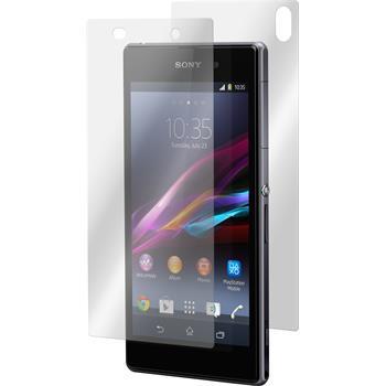 1 x Sony Xperia Z1 Glas-Displayschutzfolie klar Fullbody