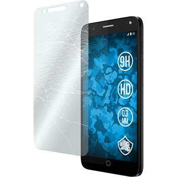 2 x Alcatel POP 4 Protection Film Tempered Glass clear