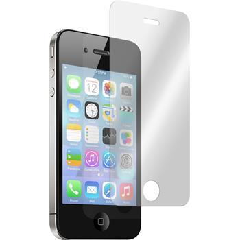 2 x Apple iPhone 4S Glas-Displayschutzfolie klar