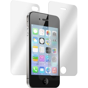 2 x Apple iPhone 4S Glas-Displayschutzfolie klar Fullbody