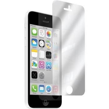 2 x iPhone 5c Schutzfolie verspiegelt
