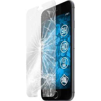 2x iPhone 6s / 6 klar Glasfolie