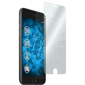 2x iPhone 7 klar Glasfolie