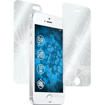 2 x Apple iPhone SE Protection Film Tempered Glass Fullbody clear