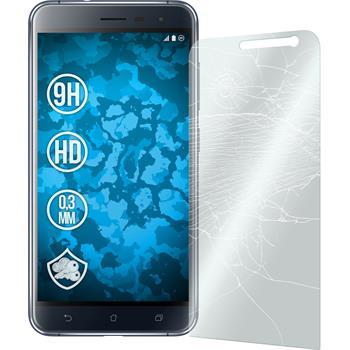 2x Zenfone 3 ZE552KL klar Glasfolie