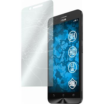 2 x Asus Zenfone Go (ZC500TG) Protection Film Tempered Glass clear
