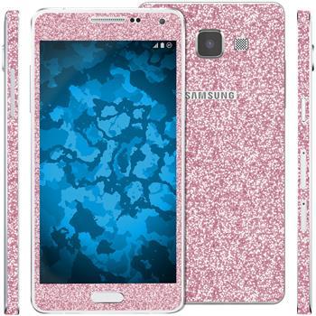 2 x clear foil set for Samsung Galaxy A5 (A500) pink