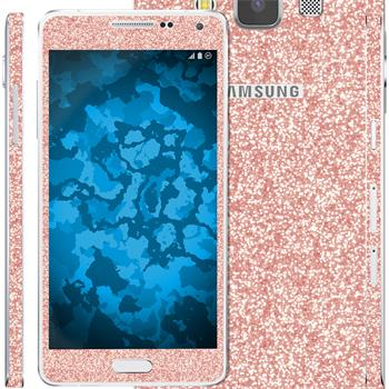 2 x clear foil set for Samsung Galaxy A5 (A500) Rose Gold