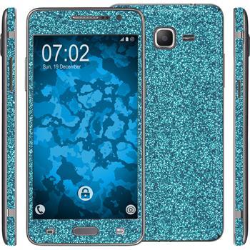 2 x Glitzer-Folienset für Samsung Galaxy Grand Prime blau