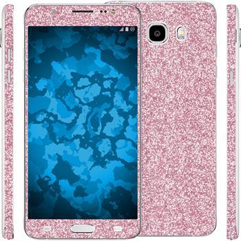 2 x Glitzer-Folienset für Samsung Galaxy J5 (2016) J510 rosa