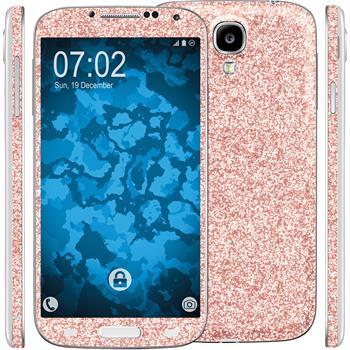 2 x Glitzer-Folienset für Samsung Galaxy S4 rosa