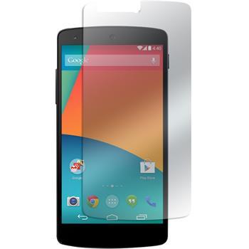 2x Nexus 5 klar Glasfolie