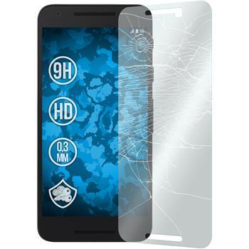 2x Nexus 5X klar Glasfolie