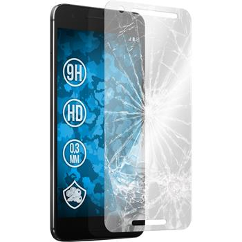 2 x Google Nexus 6P Protection Film Tempered Glass clear
