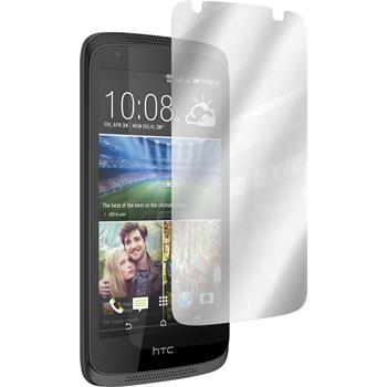 2 x HTC Desire 526G+ Displayschutzfolie verspiegelt