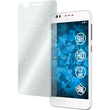 2 x HTC Desire 825 Glas-Displayschutzfolie klar
