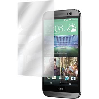 2 x HTC One M8s Displayschutzfolie verspiegelt