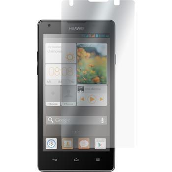 2 x Huawei Ascend G700 Displayschutzfolie klar