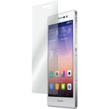2 x Huawei Ascend P7 Glas-Displayschutzfolie klar