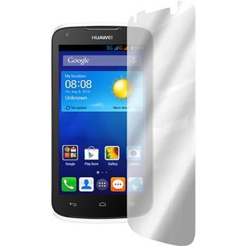 2 x Huawei Ascend Y520 Displayschutzfolie verspiegelt