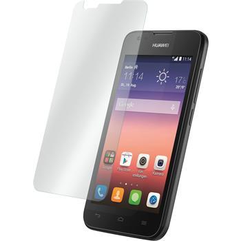 2 x Huawei Ascend Y550 Glas-Displayschutzfolie klar