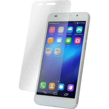 2 x Huawei Honor 4A Protection Film Tempered Glass clear