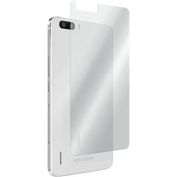 2 x Huawei Honor 6 Plus Glas-Displayschutzfolie Rückseite klar