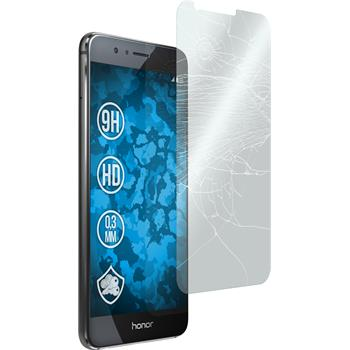 2x Honor 8 klar Glasfolie