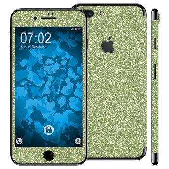 2 x Glitzer-Folienset für Apple iPhone 7 Plus grün