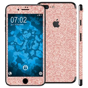 2 x Glitzer-Folienset für Apple iPhone 7 Plus Roségold