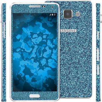 2 x Glitzer-Folienset für Samsung Galaxy A5 (A500) blau