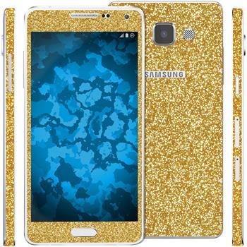 2 x Glitzer-Folienset für Samsung Galaxy A5 (A500) gold