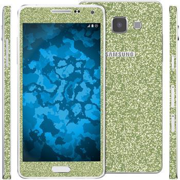2 x Glitzer-Folienset für Samsung Galaxy A5 (A500) grün