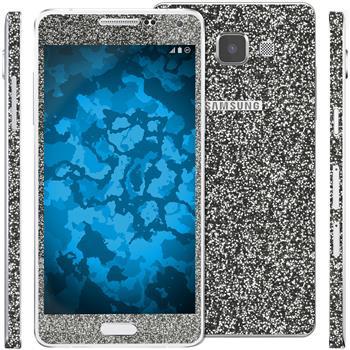 2 x Glitzer-Folienset für Samsung Galaxy A5 (A500) schwarz