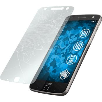 2 x Lenovo Moto Z Force Protection Film Tempered Glass clear
