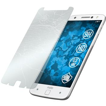 2 x Lenovo Moto Z Protection Film Tempered Glass clear