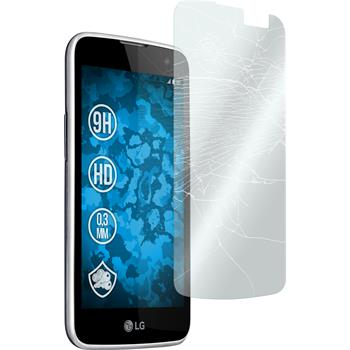 2 x LG K4 Protection Film Tempered Glass clear